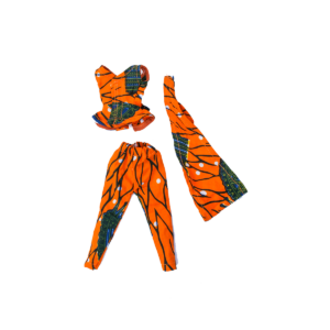 Orange two-piece