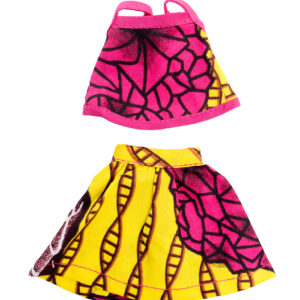 Life Yellow and Pink summer top and mini skirt