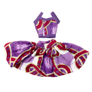 Purple Abankaba summer top and mini skirt