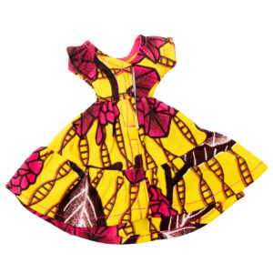 Life pink and yellow dress short sleeves