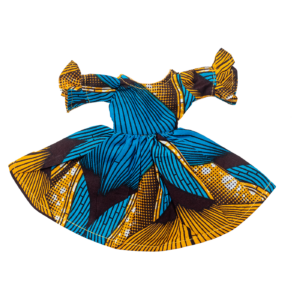 Blue and Gold Life Dress
