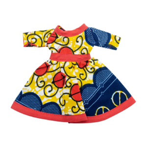 Life Blue Yellow and Red Dress