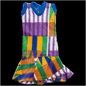 Purple Kente Mini Dress
