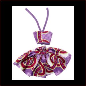 Purple Abankaba short skirt and halter