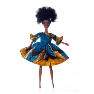 Kukua in Blue and Gold Life Dress