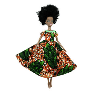 Red and green boat neck Life flair dress